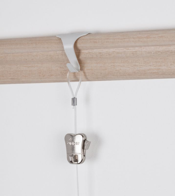 STAS picture rail moulding hook - white